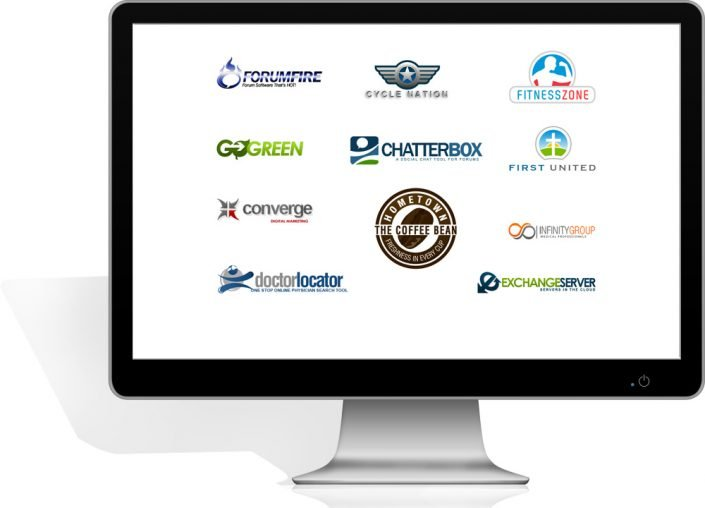 image of georgia web development's awesome websites for one half off lcd monitor with custom website business logos - georgia web development