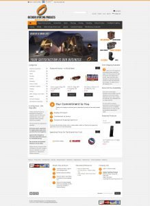 Outdoor Sporting Products eCommerce Website