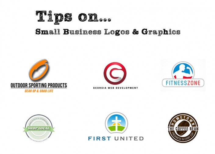 image of colorful small business logos graphics georgia web development
