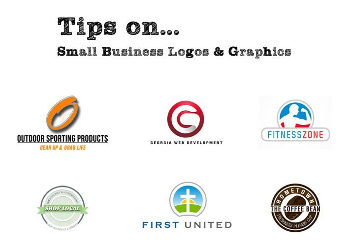 image of colorful small business logos graphics georgia web development