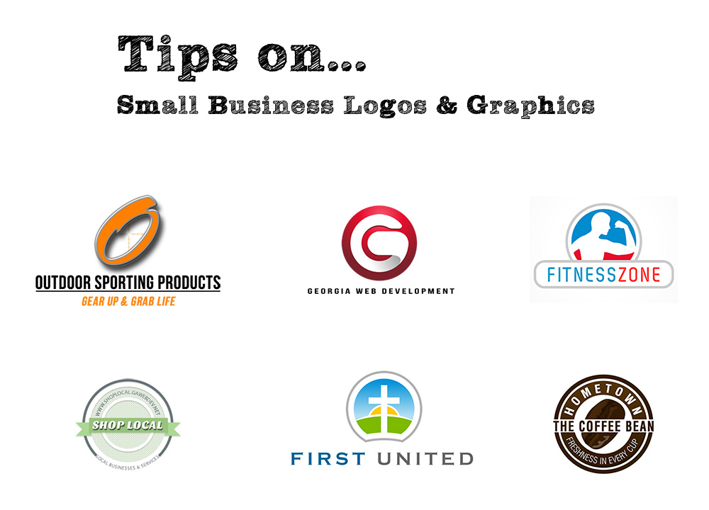 image of colorful small business logos and graphics georgia web development