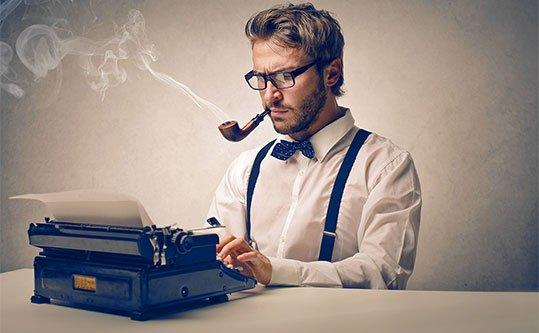 image of man at georgia web development creating website content