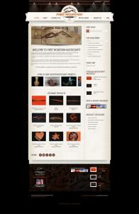 image of first mountain woodcraft ecommerce website