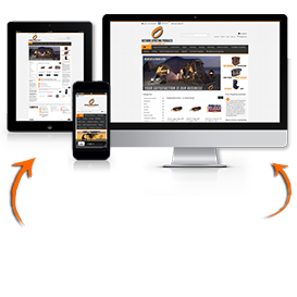 image of responsive ecommerce website package
