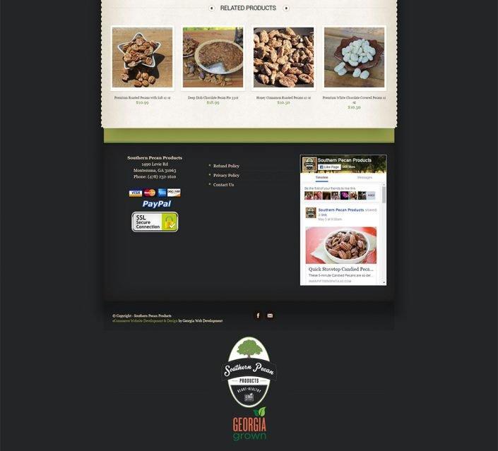 image of eCommerce website portfolio project